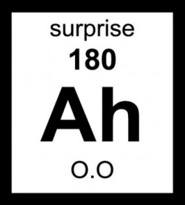 The element of surprise.